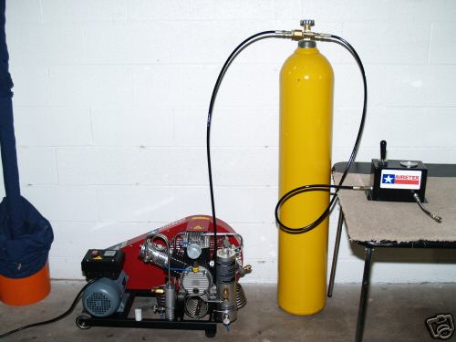 High pressure breathing air compressor and systems for the